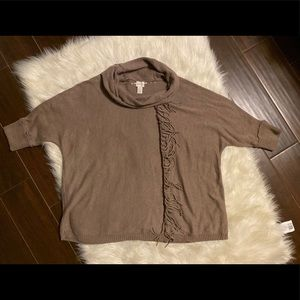 CHICO'S brown cowl neck sweater Size 3